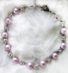 LILAC PRINCESS - Lilac pearls and AB Swarovski crystal, set into silver-plate. Hand chained. Silver-plated pewter toggle clasp. $198 SOLD May be special-ordered.