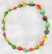 "CITRUS -  Various plastics, vintage and glass with hand-made plated Swarovski crystals. This is very popular  with the beachy crowd. 14.5"" Hand-chained. Gold-plated pewter toggle clasp. $112"