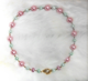 "EASTER - Delicate pastel pearls. 17"" Hand-chained. Silver-plated pewter toggle clasp. OOAK $78"