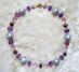 "PURPLE LACE -  Gray pearls imported from Italy. 20"" Gold-plated pewter toggle clasp. $78"