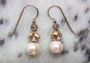 "TINY CZARINA Pearl Earrings - Crystal/gold.  50""  These are on French wires. $44"
