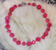 "SWEETIE -Fuschia vintage plastics. 18"" Hand-chained. Silver-plated pewter toggle clasp. OOAK $78"