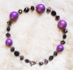 "VELVET UNDERGROUND - Vintage purple beads and Czech glass. 17.5"" Gold-plated pewter toggle clasp. $82"
